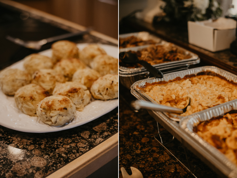 Yummy wedding food from Koco's Pub and Lewis Barbecue in Folly Beach, South Carolina by Britney Clause Photography