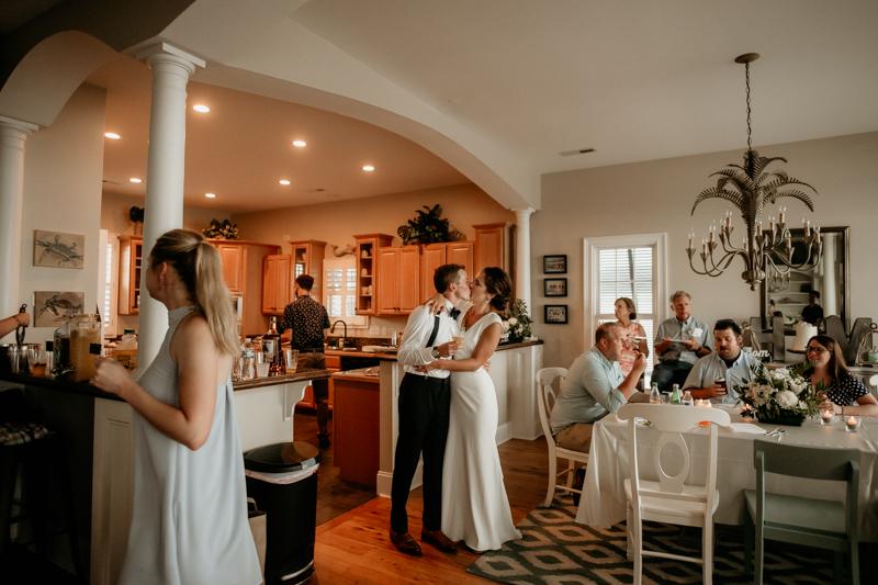 A fun beach wedding reception in Folly Beach, South Carolina by Britney Clause Photography