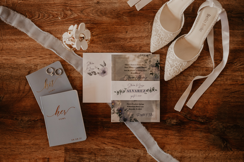 Gorgeous wedding details at Historic Rosemont Springs, Virginia by Britney Clause Photography