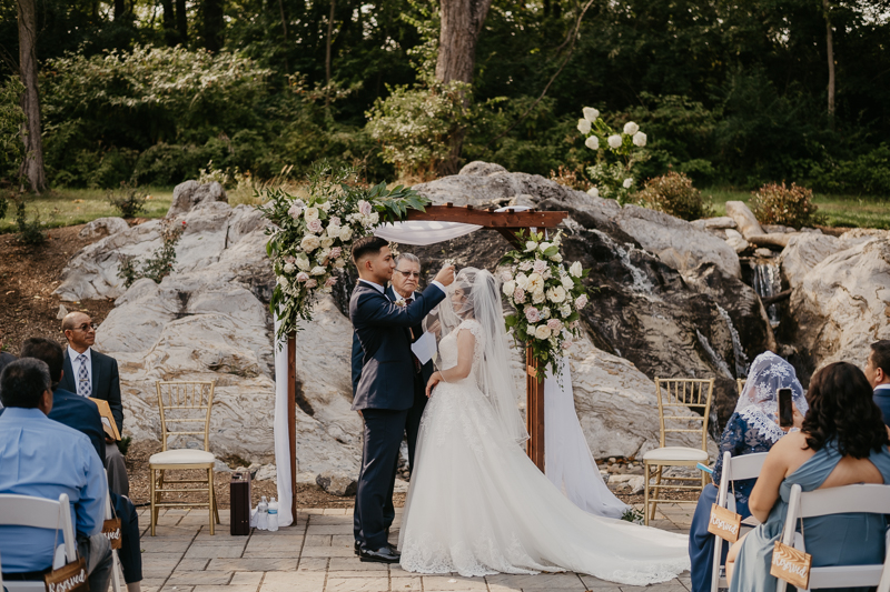 A beautiful wedding ceremony at Historic Rosemont Springs, Virginia by Britney Clause Photography