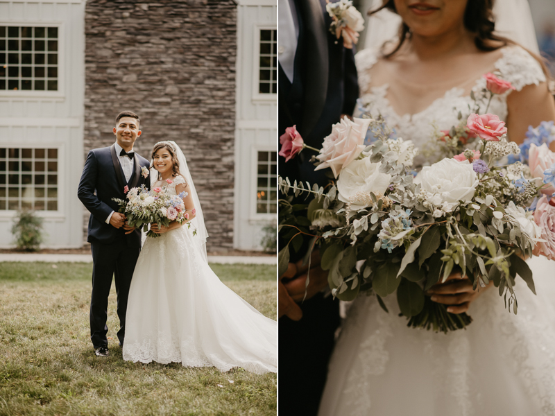 Stunning bride and groom wedding portraits at Historic Rosemont Springs, Virginia by Britney Clause Photography