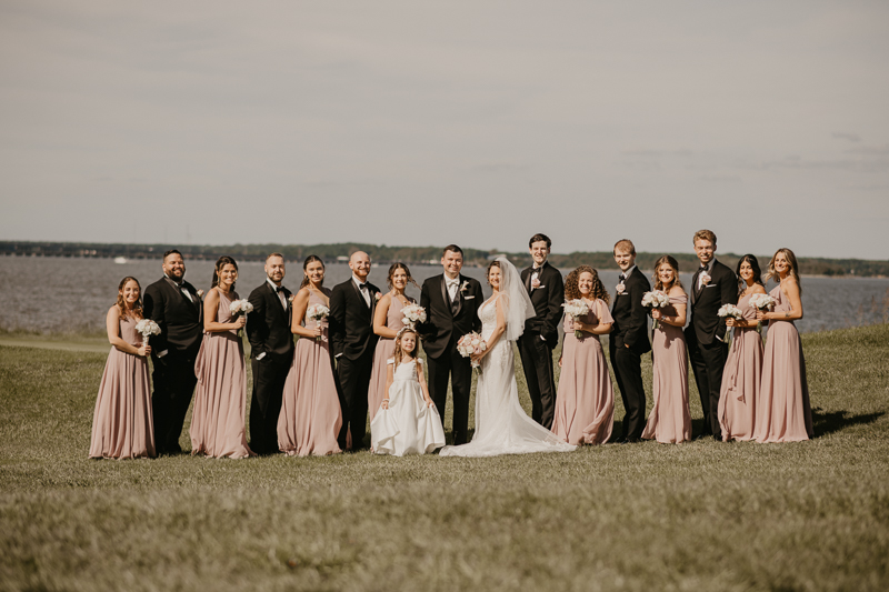 A Fall wedding in September at The Hyatt Regency Chesapeake Bay, Maryland by Britney Clause Photography