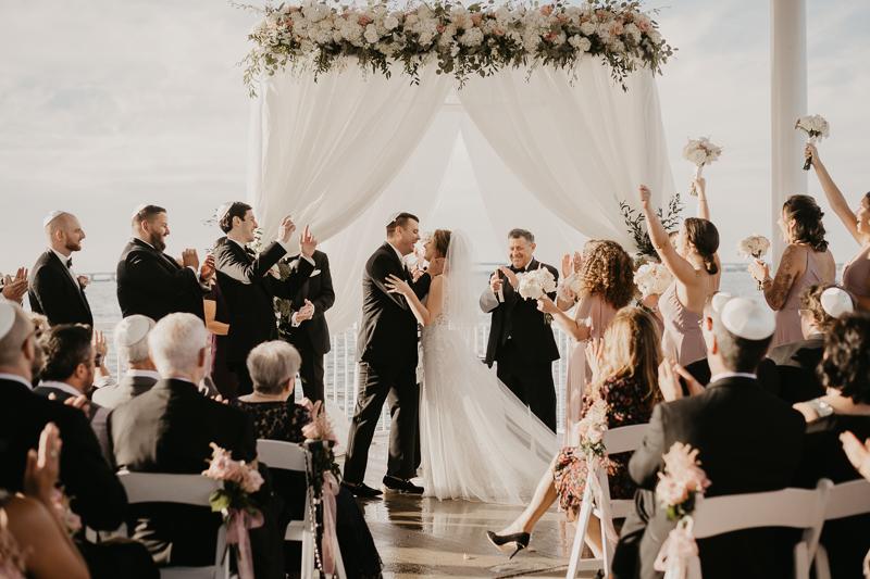 A beautiful Jewish wedding ceremony at The Hyatt Regency Chesapeake Bay, Maryland by Britney Clause Photography