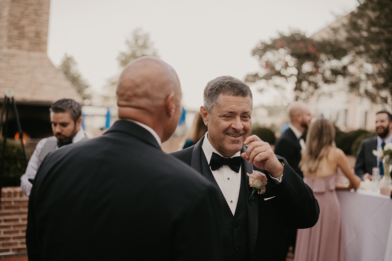 A fun wedding cocktail hour at The Hyatt Regency Chesapeake Bay, Maryland by Britney Clause Photography