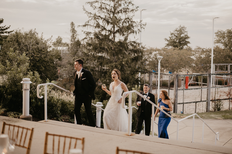Magical wedding reception decor from Select Event Group and Belles Fleurs at The Hyatt Regency Chesapeake Bay, Maryland by Britney Clause Photography